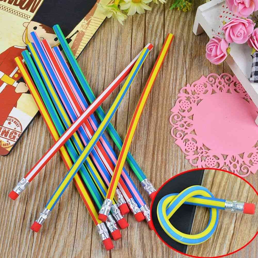Soft Pencil Magic Colorful Flexible Bendy Solid Pencil
