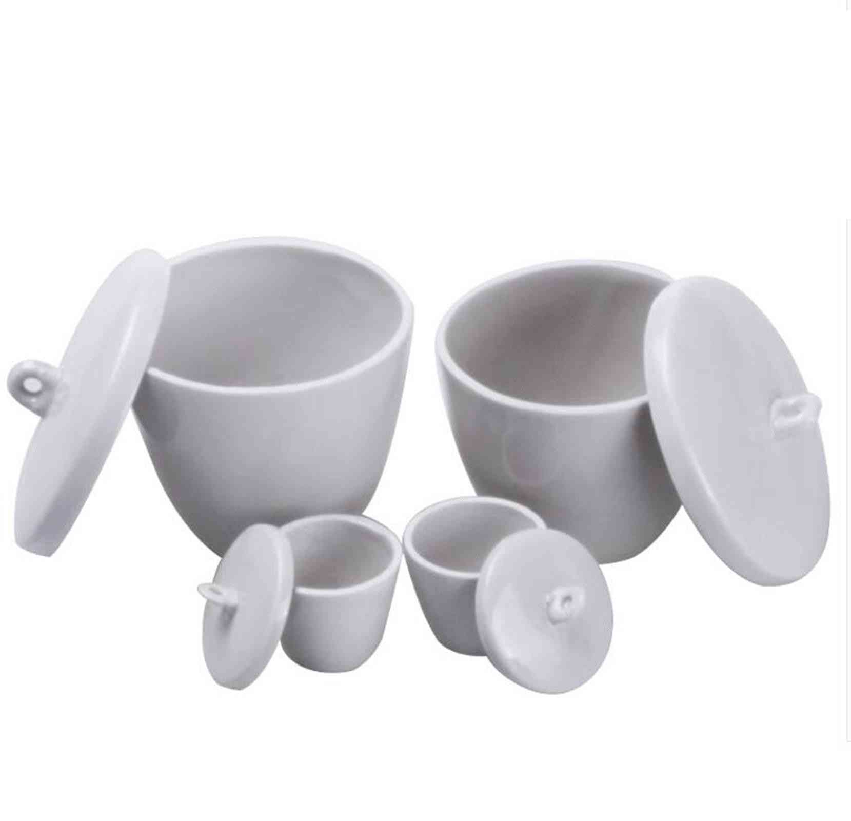 Ceramic Porcelain Crucible With Cover