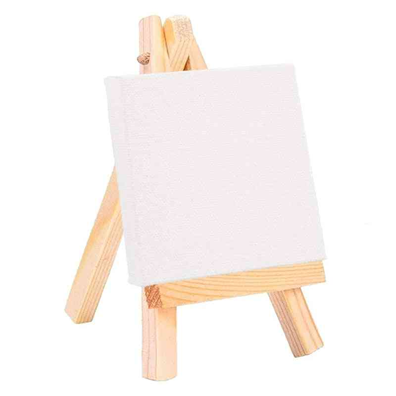 Wooden Mini Easel Canvas Set Painting