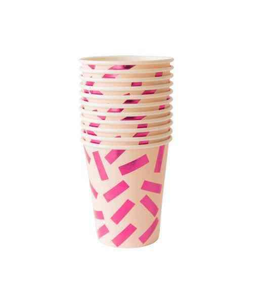 Pretty In Pink Confetti Cups