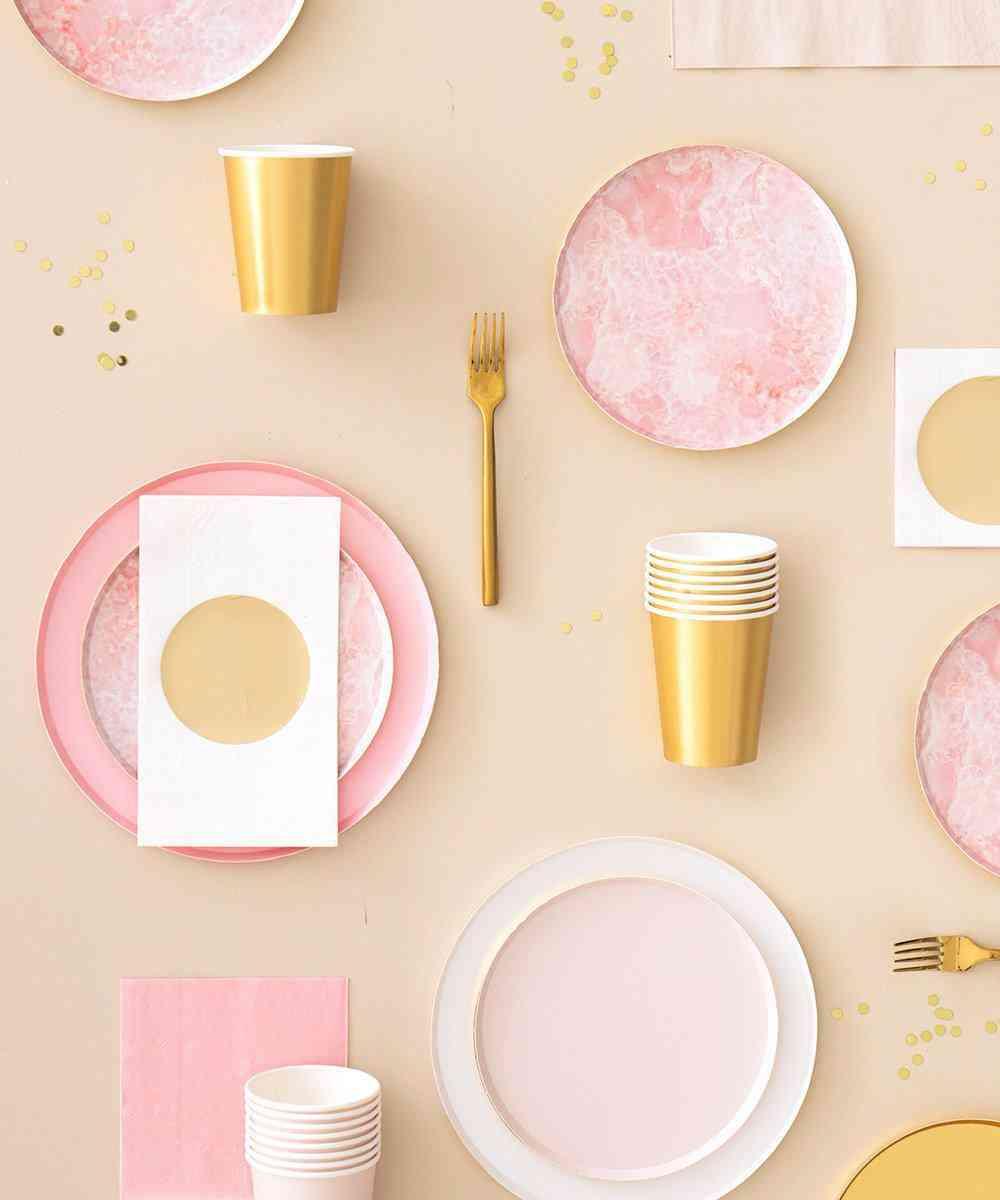 Oh Happy Day Rose Quartz Plates (large)