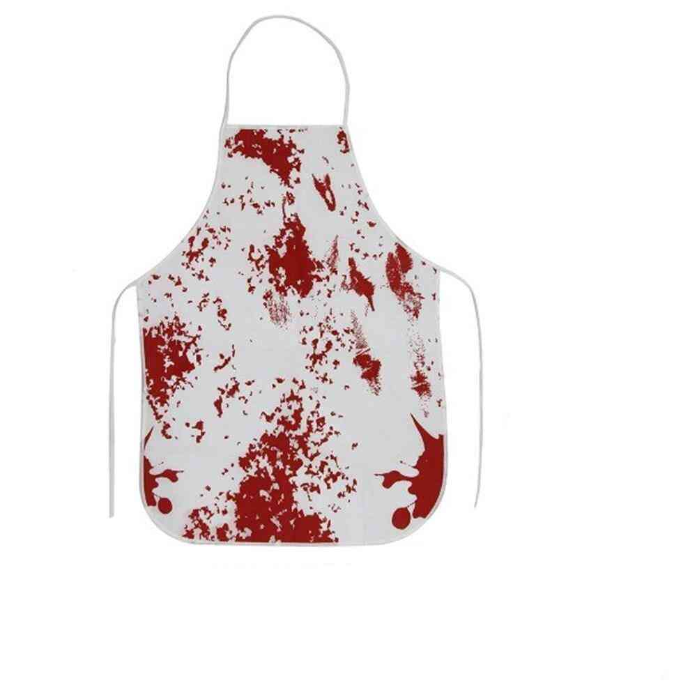 1pc Halloween Decorations Scary Bloody Tablecloth Apron