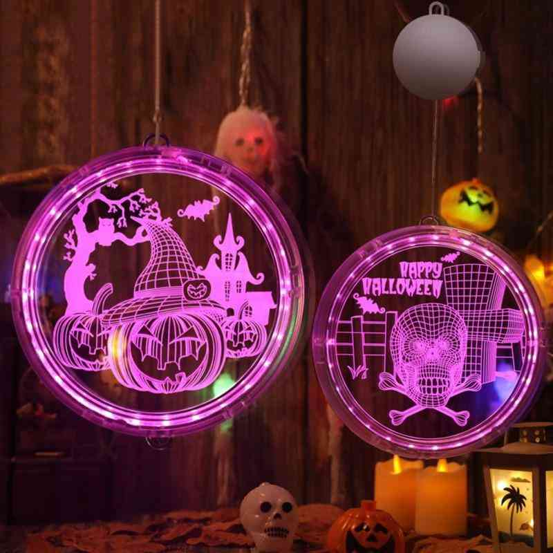 3d Hanging Lamp With Sucker Cup Window Halloween Party Decor