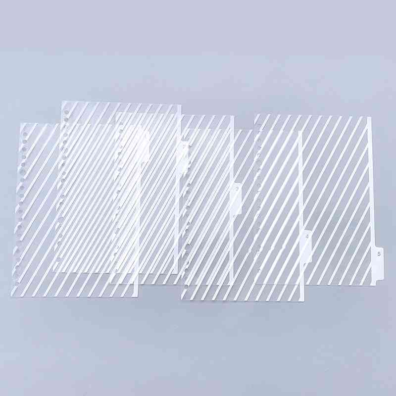Index Dividers Creative Classification Card Hole Binder