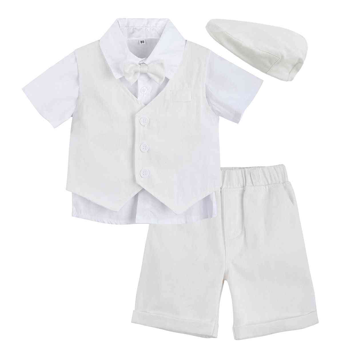 Baby Boy Baptism Suit Formal Toddler Wedding Bow Clothes