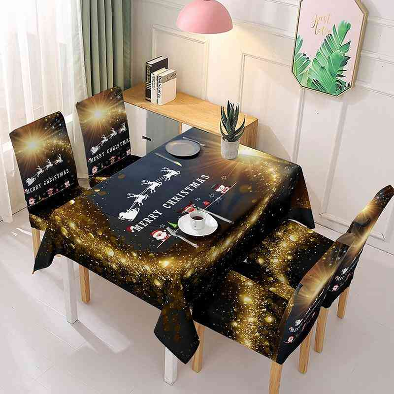 Christmas Table Cloth Polyester Rectangular Tablecloth 3d Printed