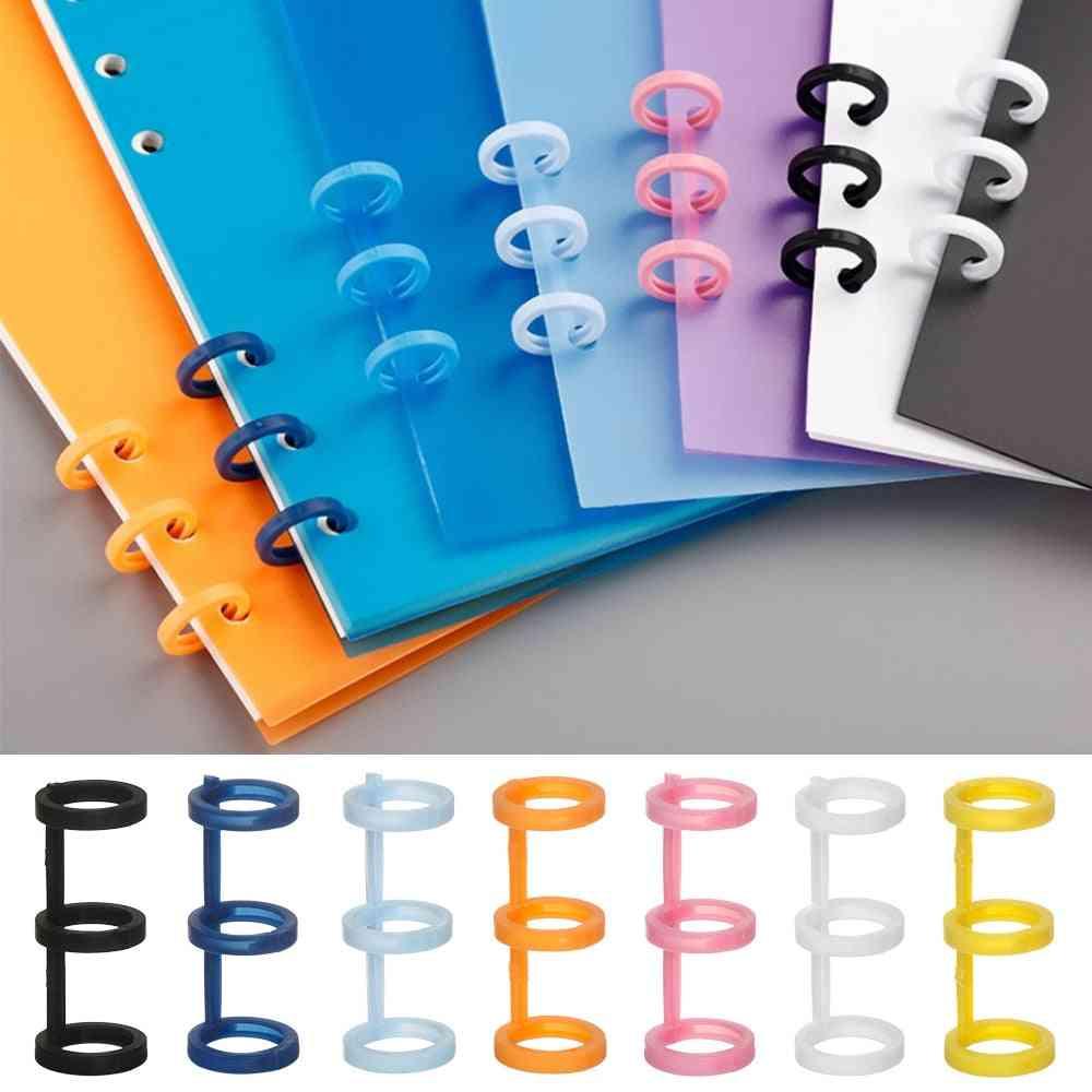 3pcs/set Candy Color Spiral Ring Notebook Binder