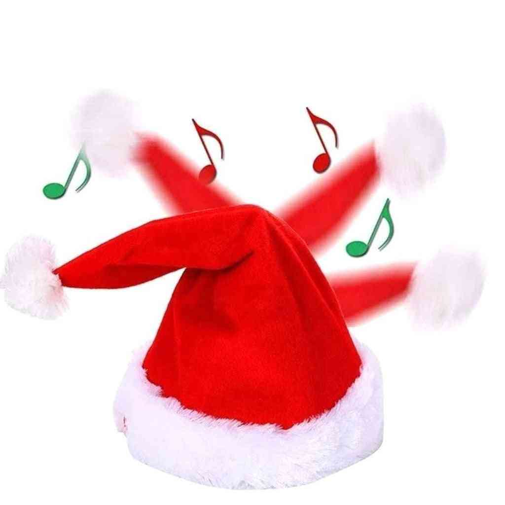 Merry Christmas Singing Dancing Moving Santa Hat Hat Xmas