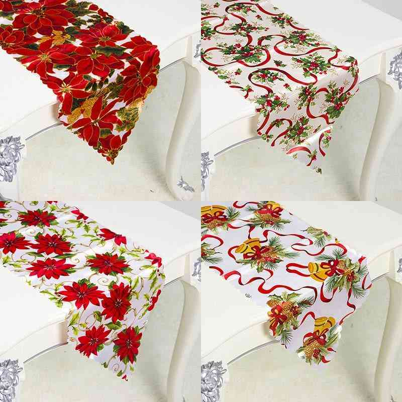 35*180cm Christmas Table Runner Tablecloth Flag Home Party Decorative