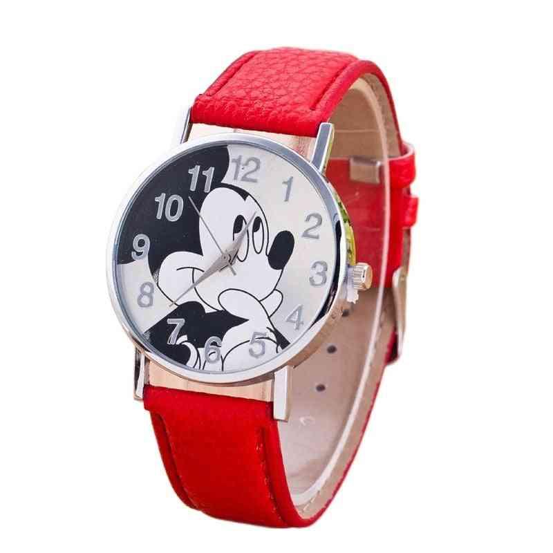 7 Colors Cute Clock Cartoon Quartz Wristwatch