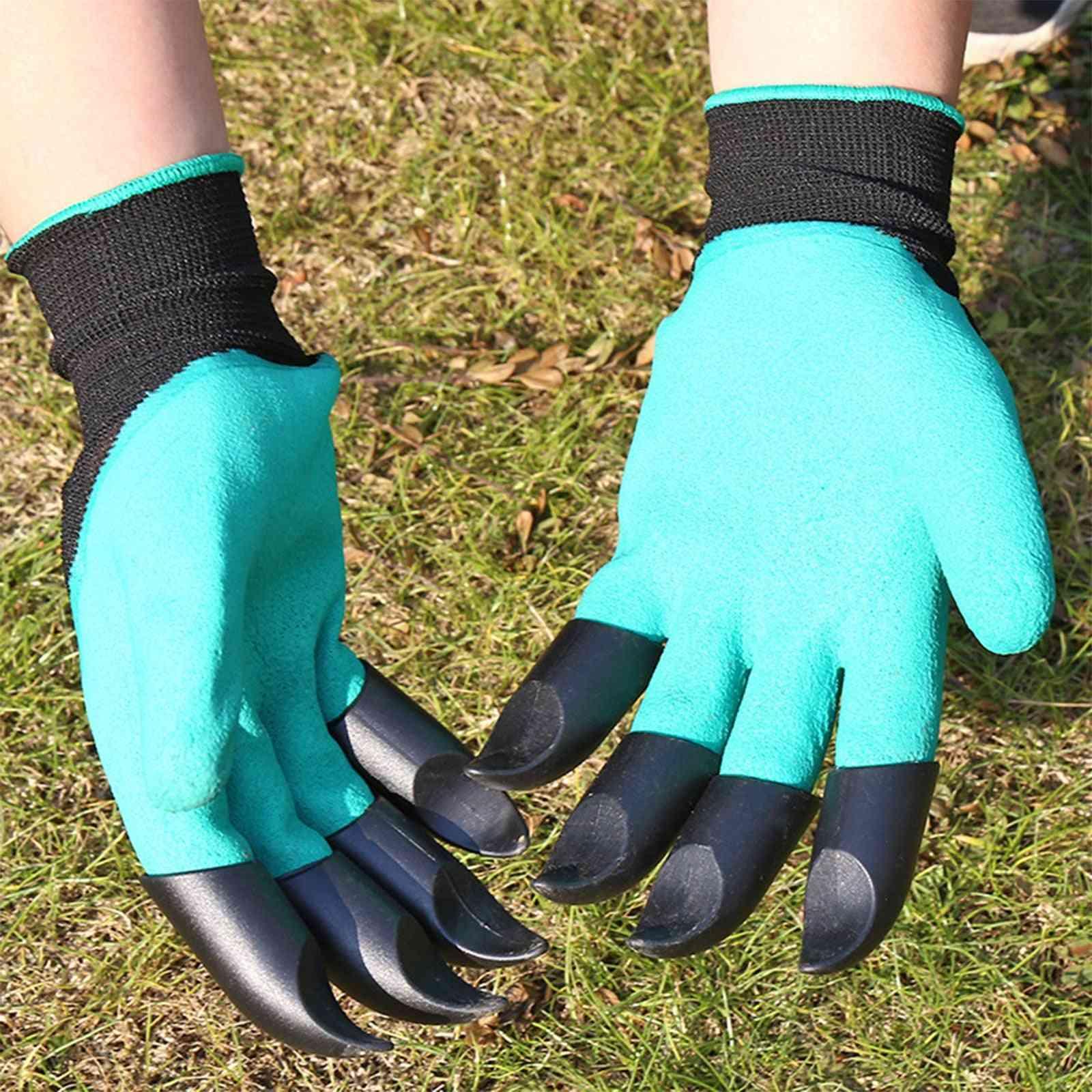 Garden Gloves With Single/double Fingertips