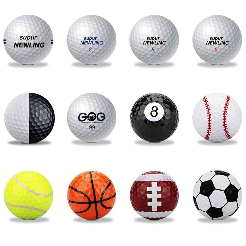 1 Pcs Golf Ball 2 Layers 3 Layers Super Long Distance Game And Practice Support Custom Logo Drop Ship
