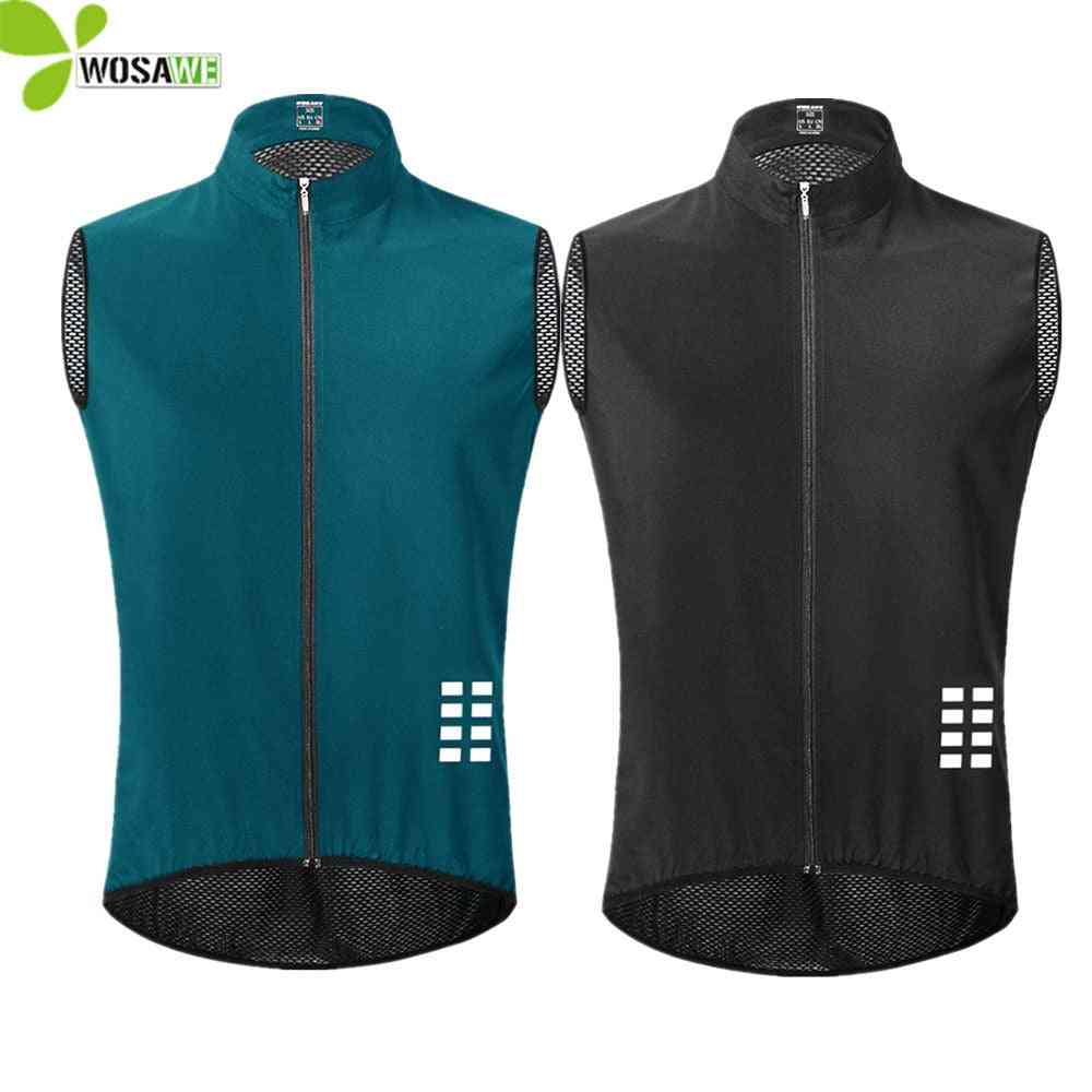 Cycling Vest Ultralight Sleeveless Jersey Cycle Gilet Waistcoat Thin Reflective Safety
