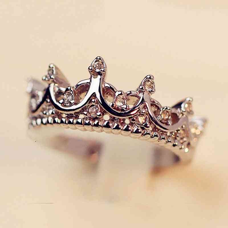Crown Shaped Queen Temperament Rings