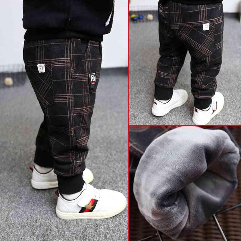 Boys Plain Plus Velet Pants