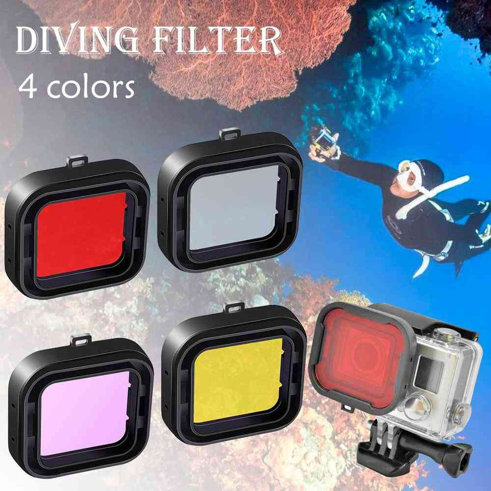 Waterproof Sports Camera Case Underwater Diving Filter Lens Cover
