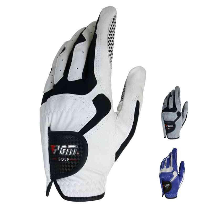 Men's Fiber Soft Breathable Anti-slip Golf Gloves