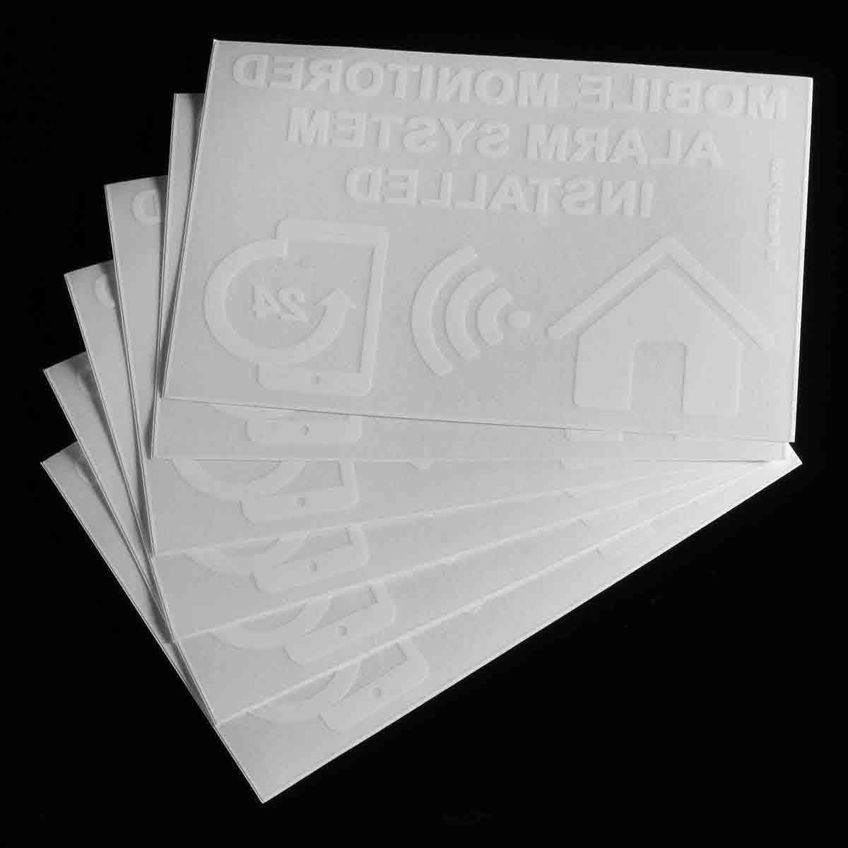 Monitored Alarm System Installed Warning Sign Internal Sticker