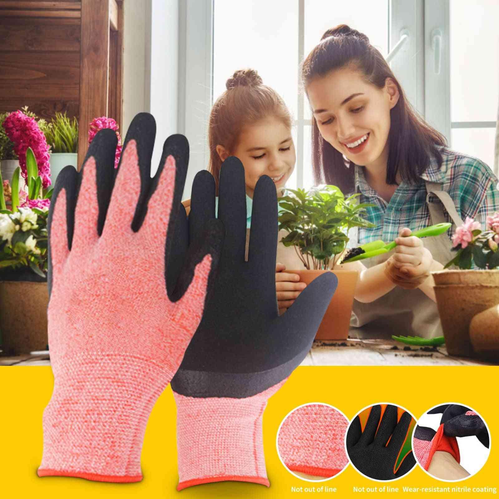 1 Pair Garden Gloves For Outdoor Gardening Work
