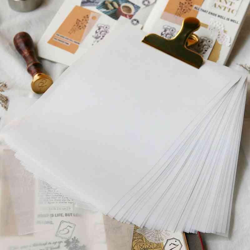 A5 Translucent Paper Handmade Diy Scrapbooking