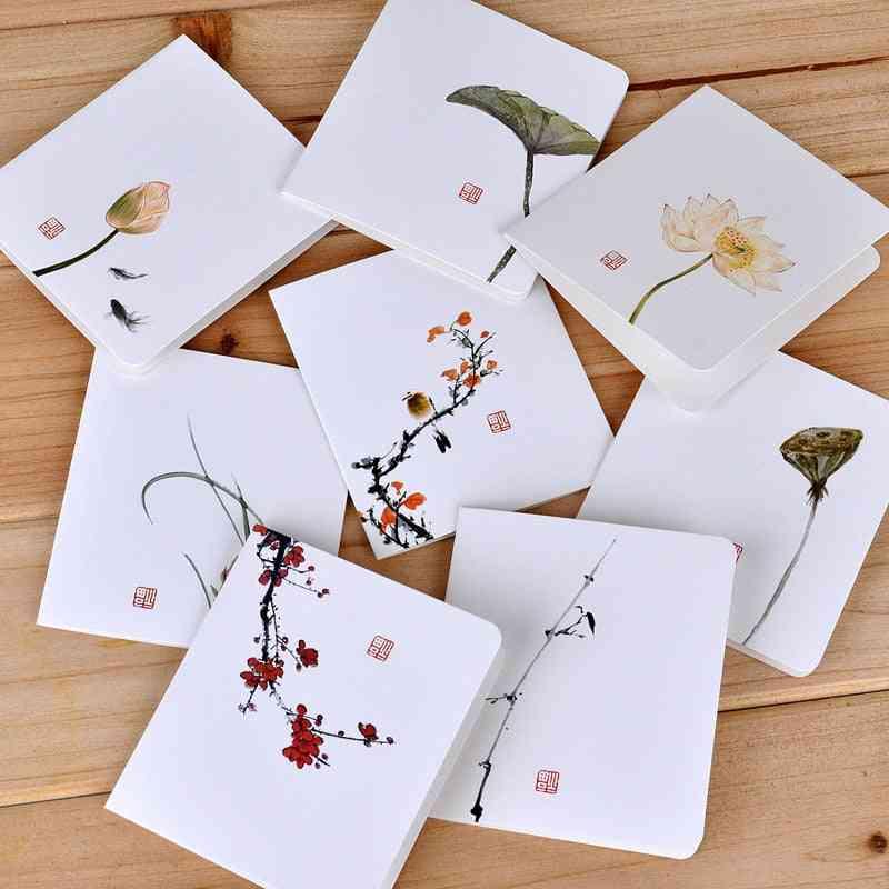 Satone 8 Pcs Letter Paper Classical Wind Card