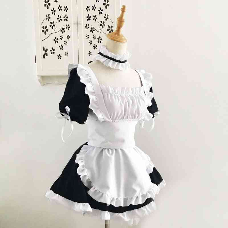 Anime Yoga Outfit Cosplay Women Sexy Apron Dress