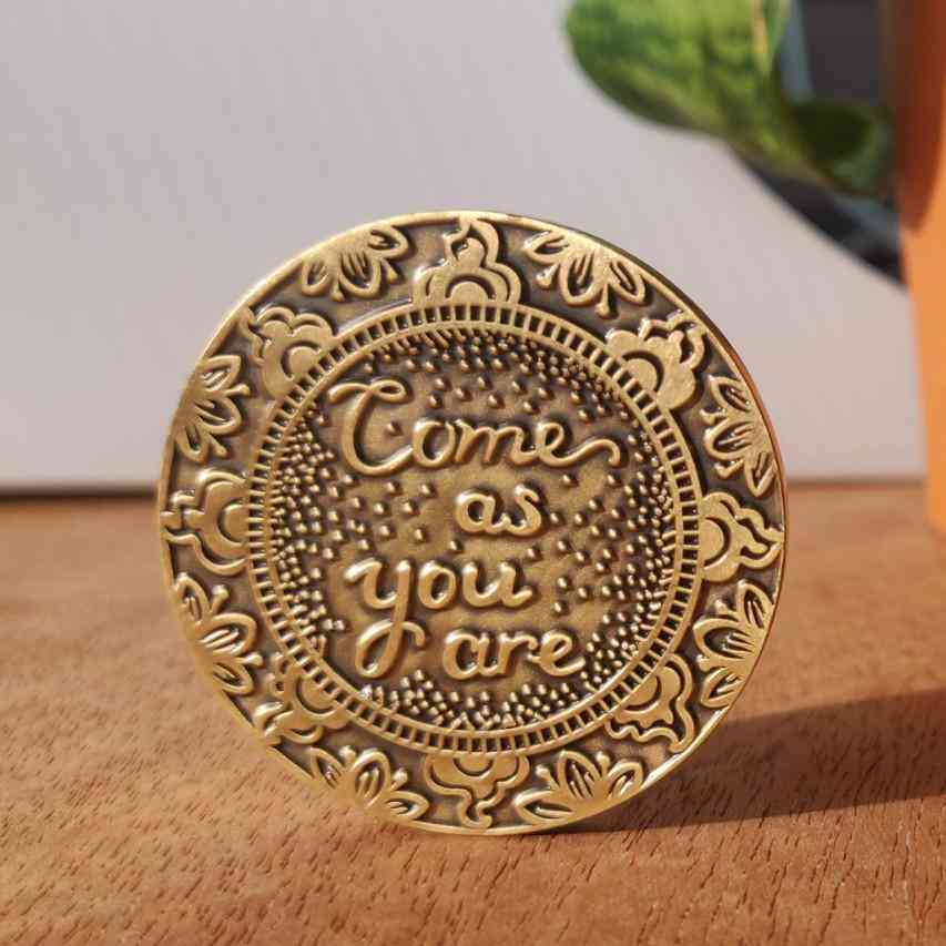 Come As You Are Mantra Medallion