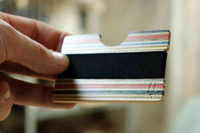 Wood Wallet Recycled Skateboards