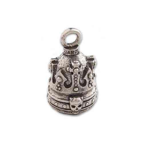 Guardian Bell, Metal, Crown Of Skulls, Motorcycle Good Luck Bell, .75