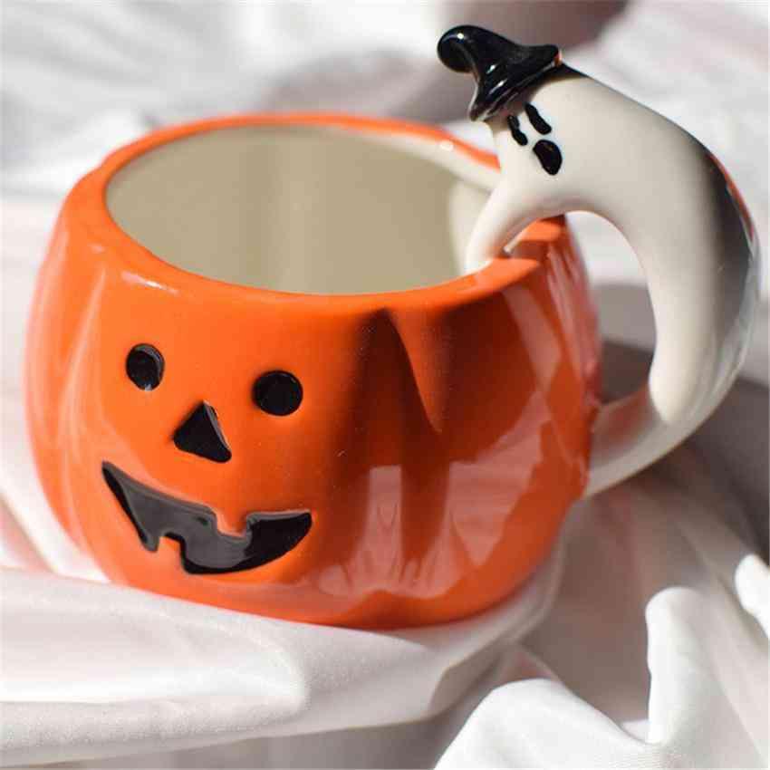 Creative Pumpkin Coffee Cup Ceramic Breakfast Cup European With Handle