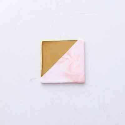 Luxury Unique Marble Pink Gold Ceramic Placemat Coaster Porcelain Mats