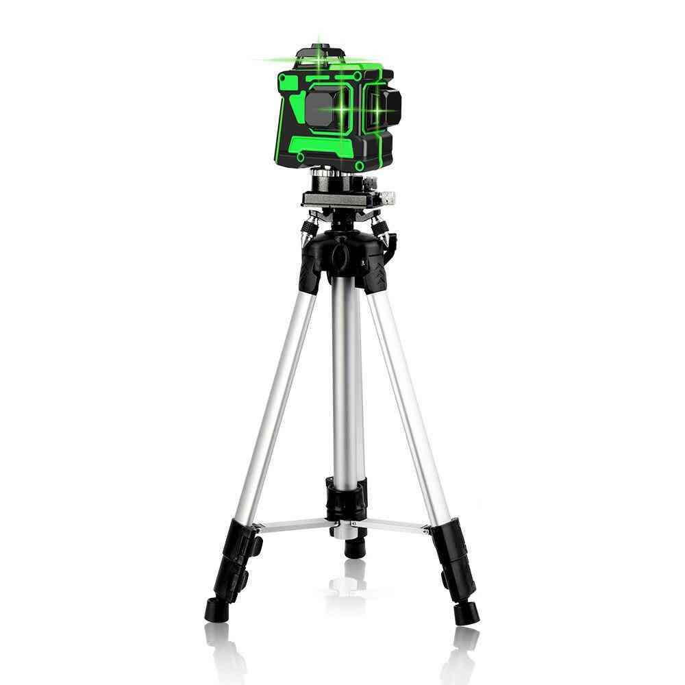12 Lines 3d Green Laser Level Self-leveling 360 Degrees Horizontal And
