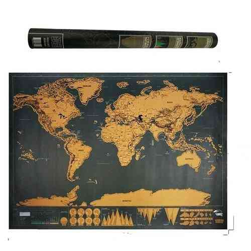 Deluxe Black Decoration World Map
