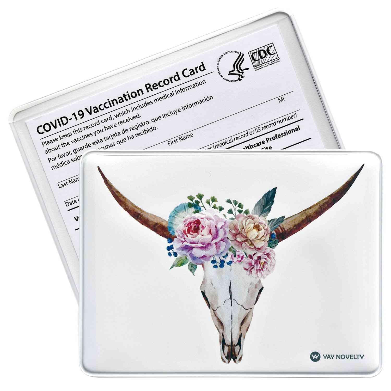 Vaccination Card Protector - Bull Horns
