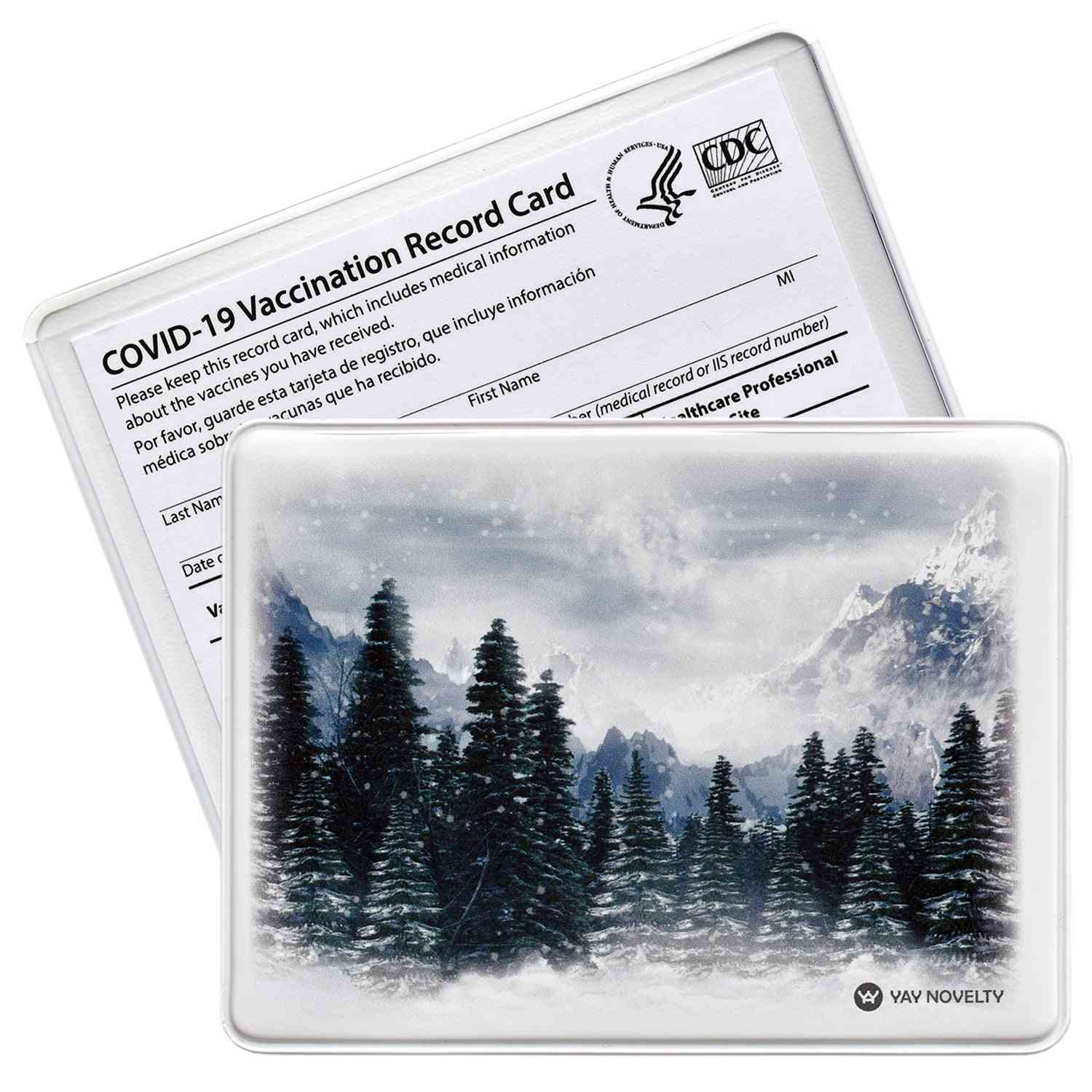 Vaccination Card Protector - Evergreen