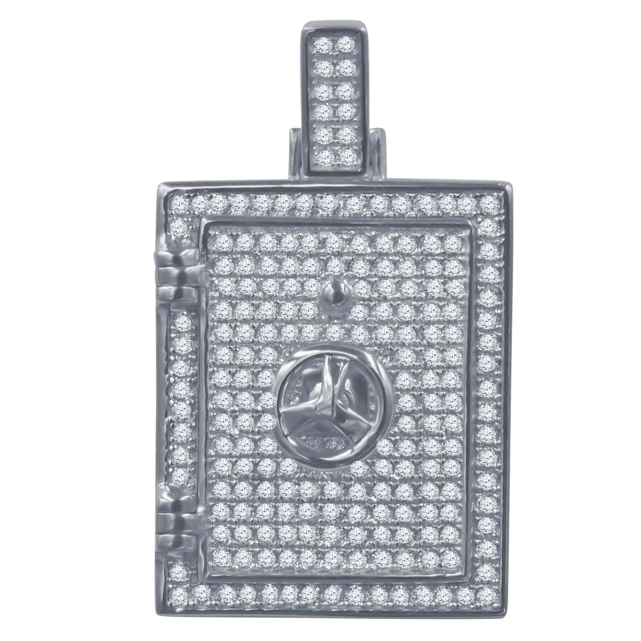 Silver Pendant With Cz Stone-929511