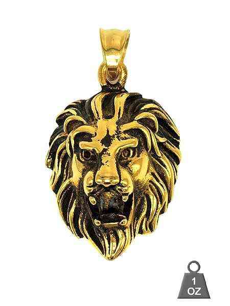 Stainess Steel Lion Pendant