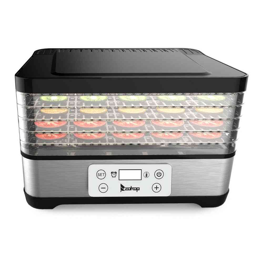 Large Drying Capacity Food Fruit  Dehydrator With 5pcs Movable Trays