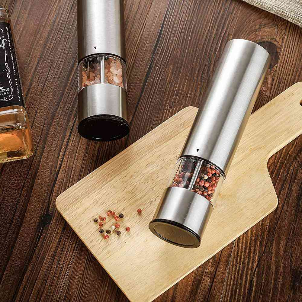 Electric Pepper Mill Stainless Steel Automatic Salt Pepper Grinder Sp