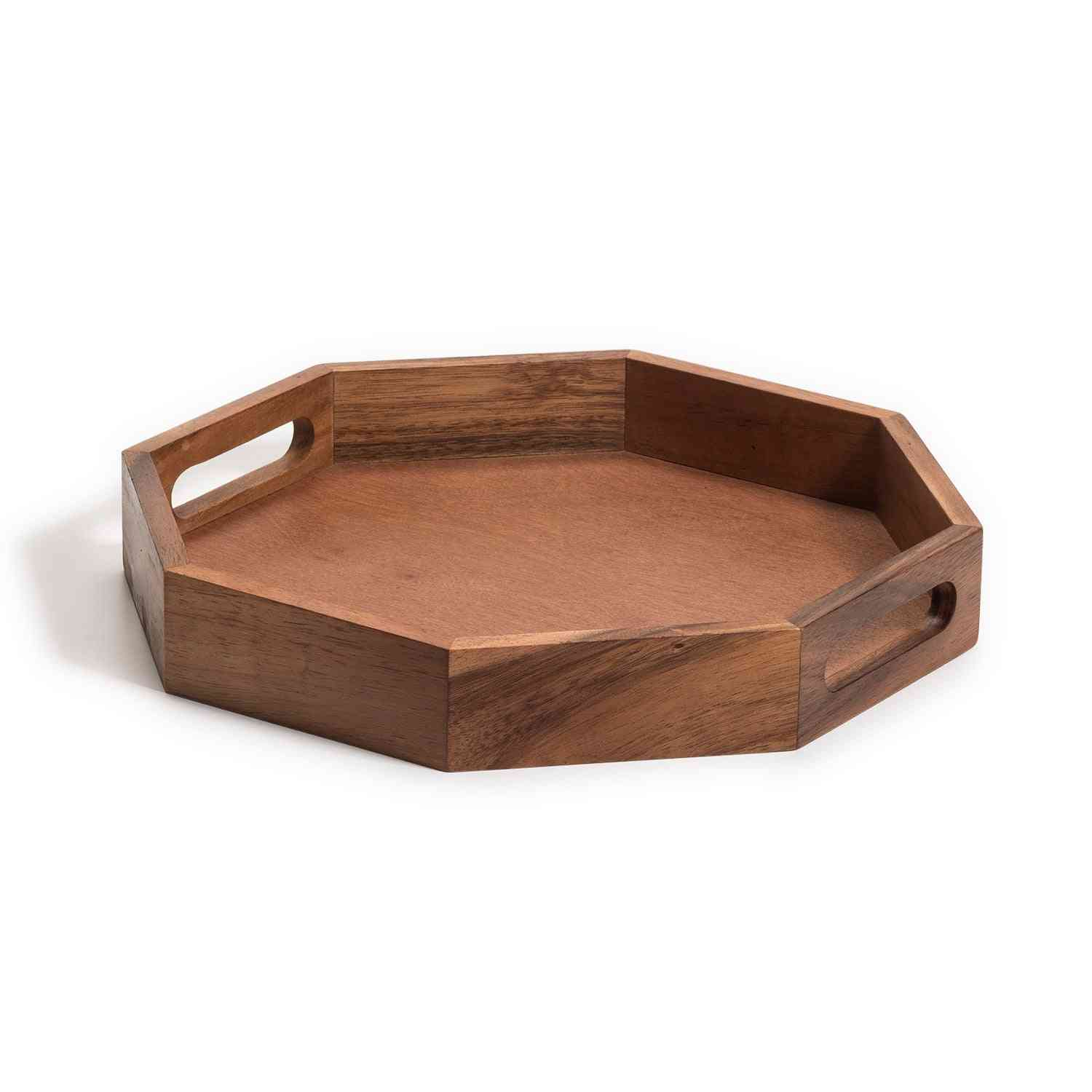 Octagon Wood Charcuterie/serving Tray 13