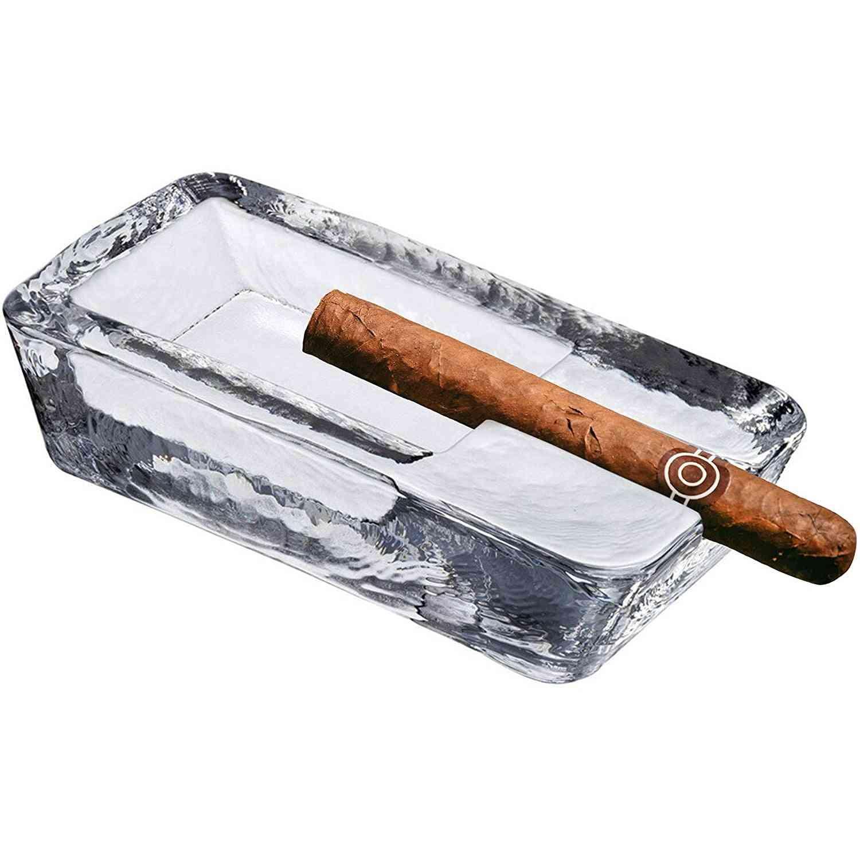 Cigar Ashtray Handmade Crystal Glass Windproof Design And Heavyweight