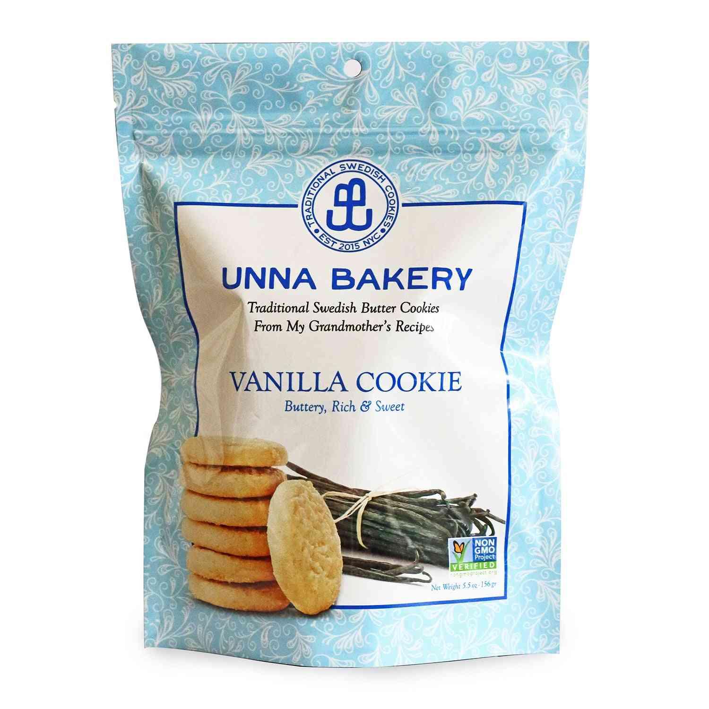 Vanilla Sugar Cookies 5.5 Oz From Unna Bakery. 1 Case/6 Units.
