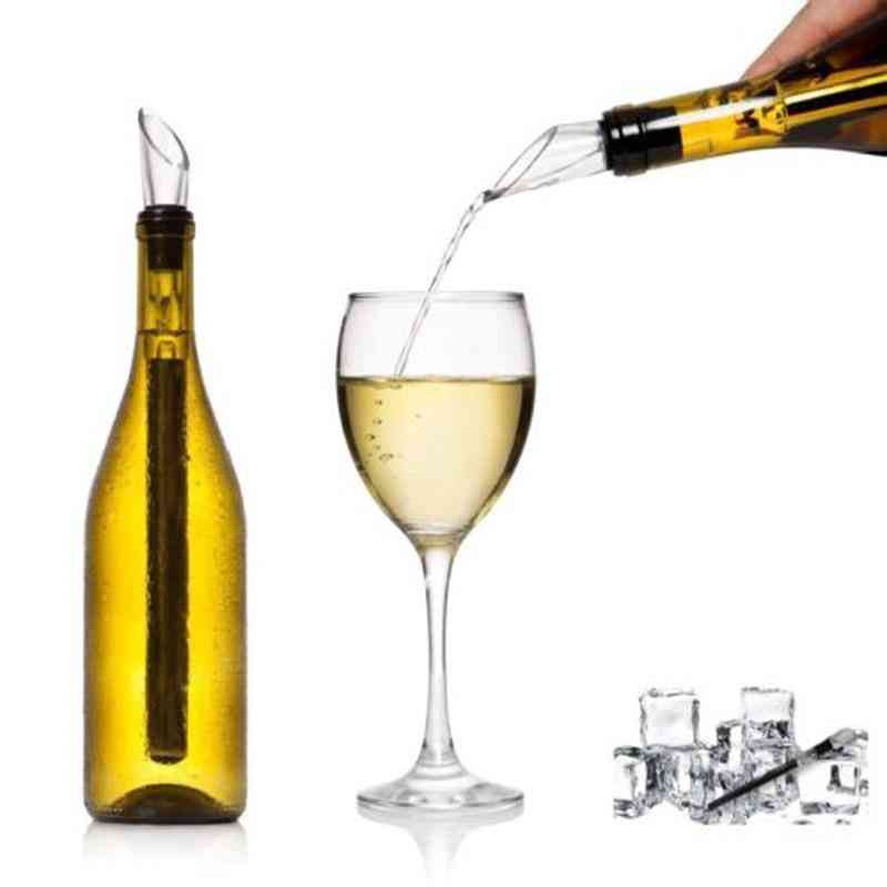 Stainless Steel Ice Wine Chiller Stick With Wine Pourer Wine Cooling