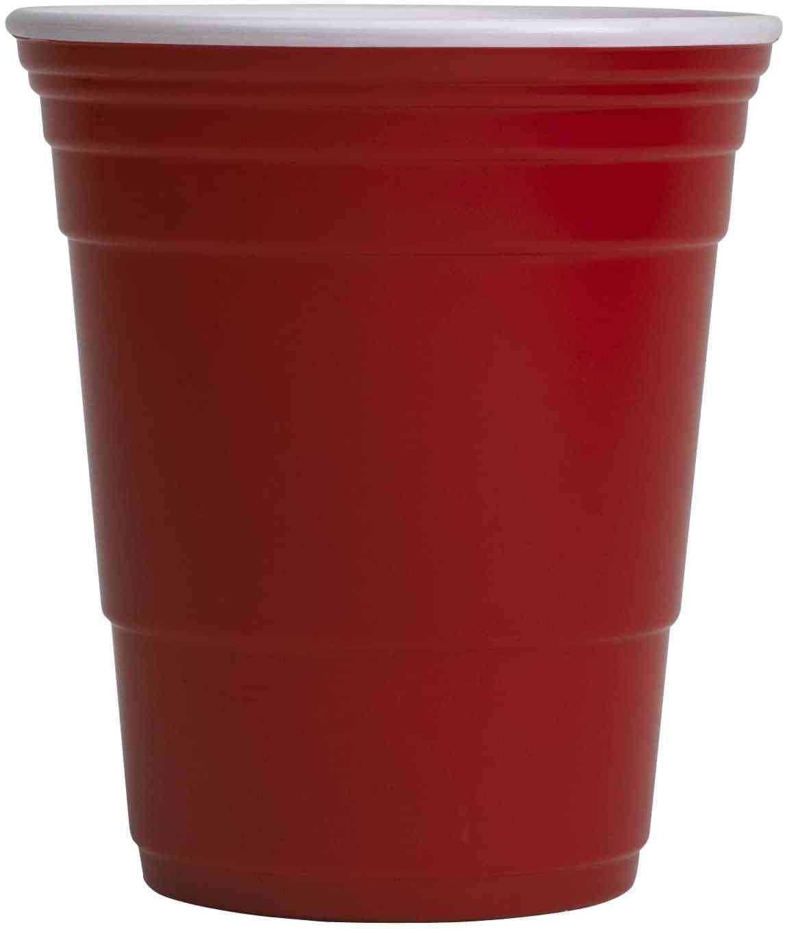 Red Cup Living Reusable Beverage Cup, 18-ounce, Red