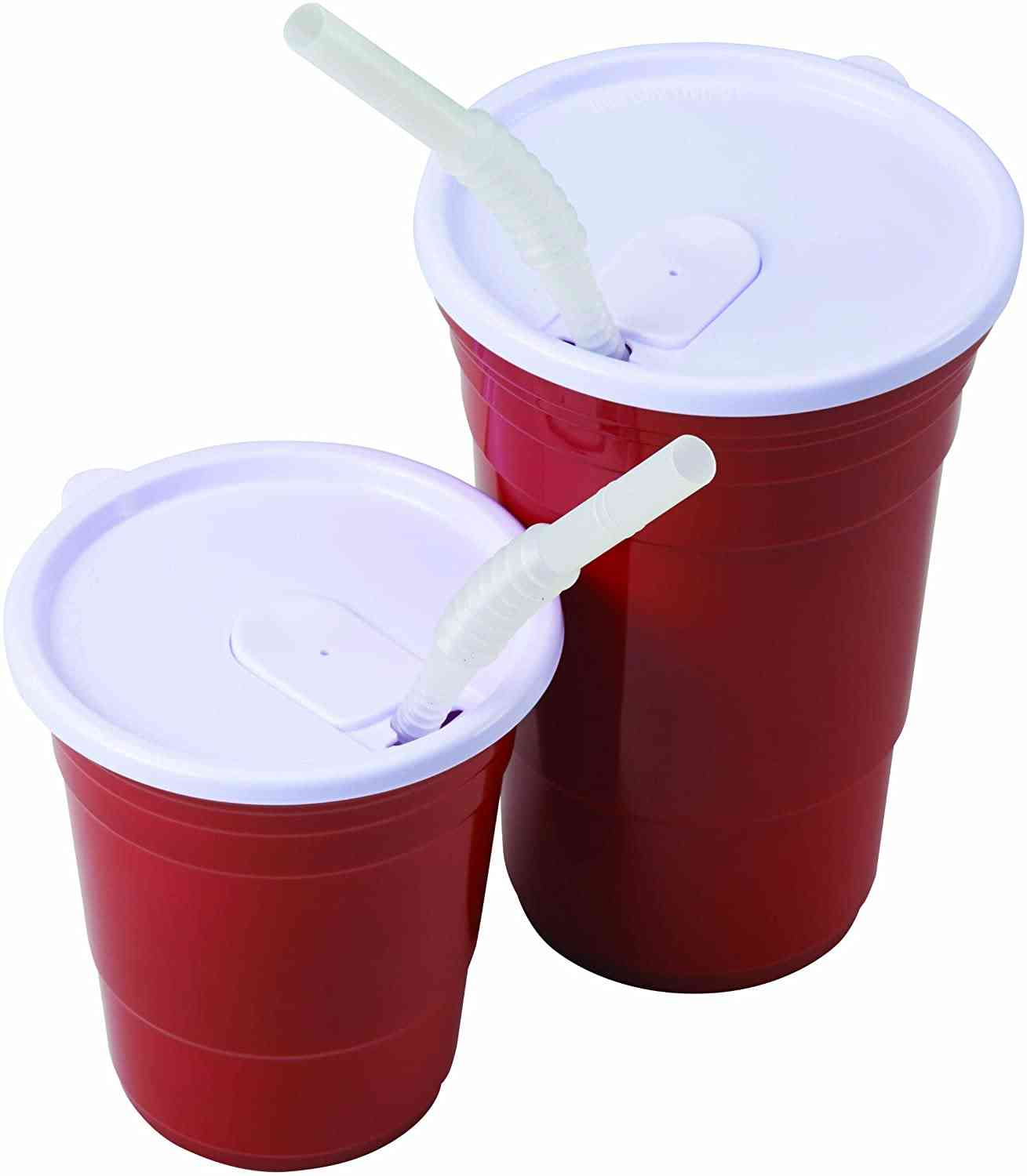 Red Cup Living Straw For 18-ounce Cup, Set Of 4